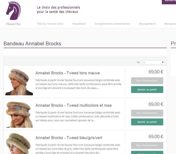 Bandeau pour cheveux Annabel Brocks